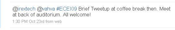 Tweeting makes networking easier