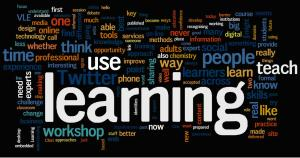 Tag cloud for learning 3.0