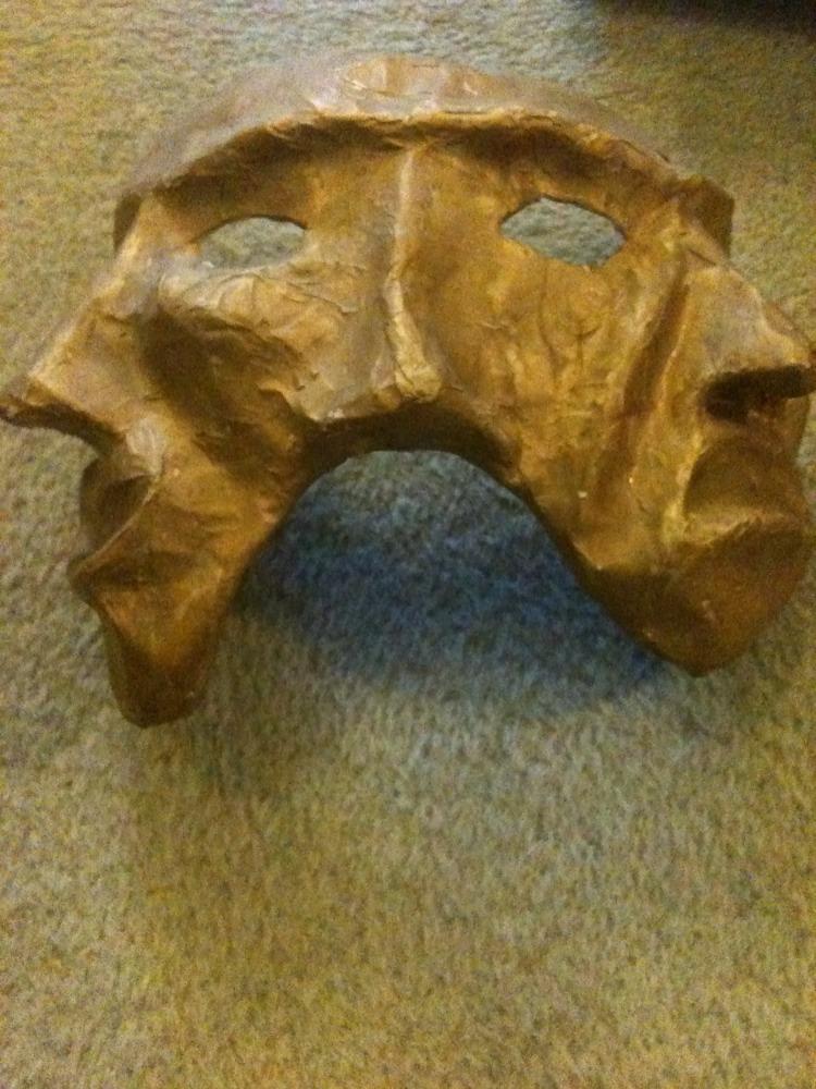 Object 27 gcse art project papier mache mask bryony taylor for Paper mache objects