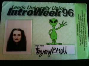 Object #91 Freshers' Week pass Leeds University 1996