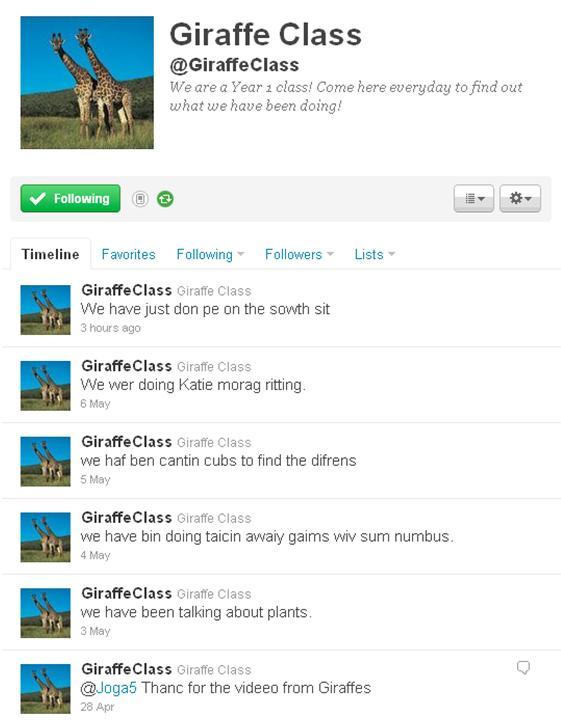 Giraffe Class on Twitter