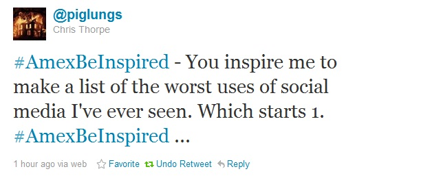 The importance of authenticity & ethics in social media - the #amexbeinspired Twitter #fail (3/3)