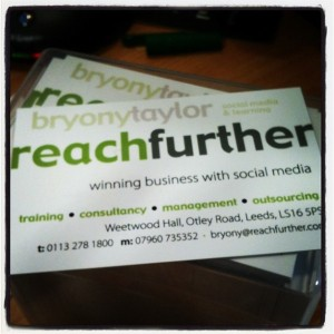My Reach Further business cards