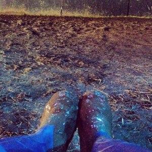 Muddy wellies - were a fixture at Greenbelt 2012