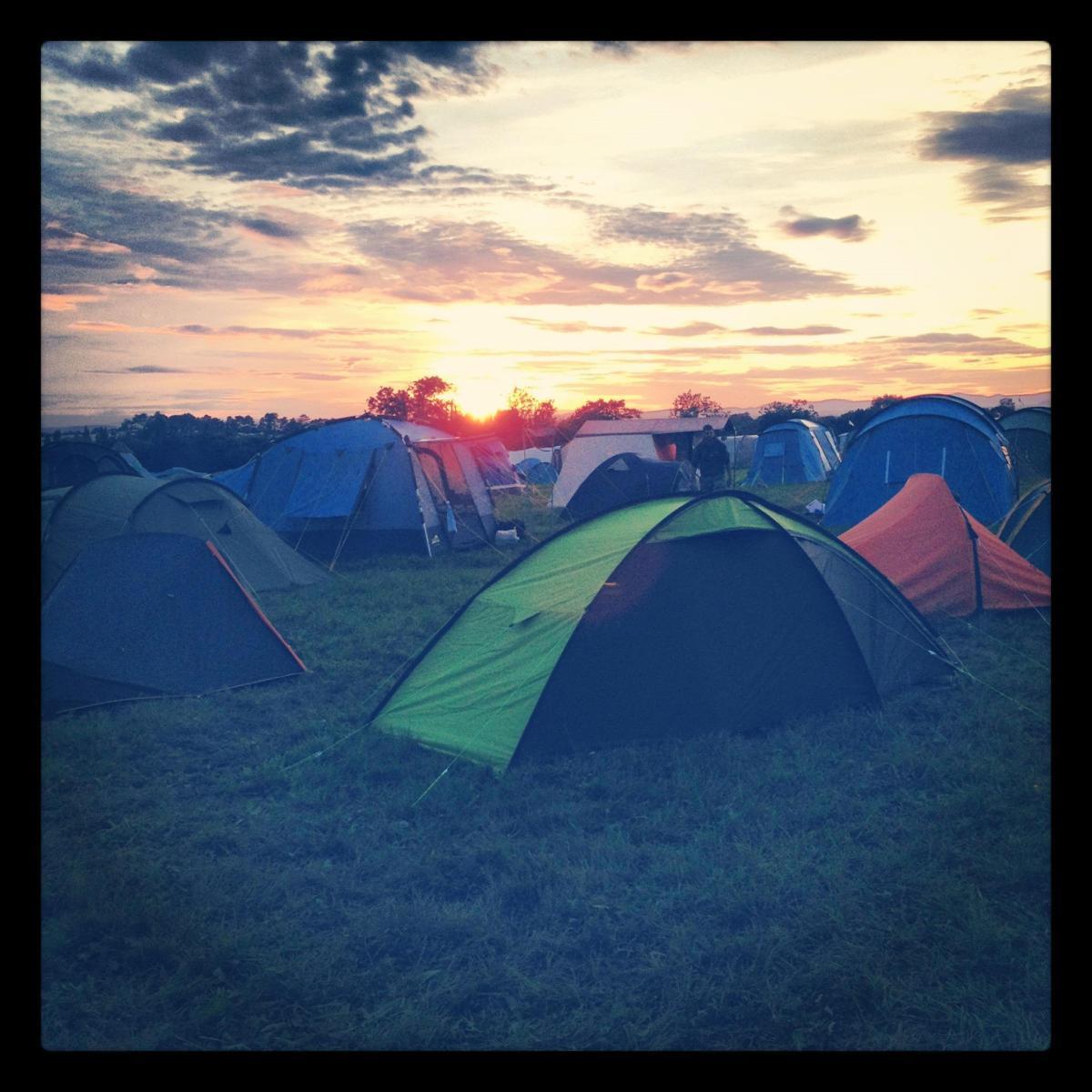 Sunset on Sunday at Greenbelt 2012 campsite