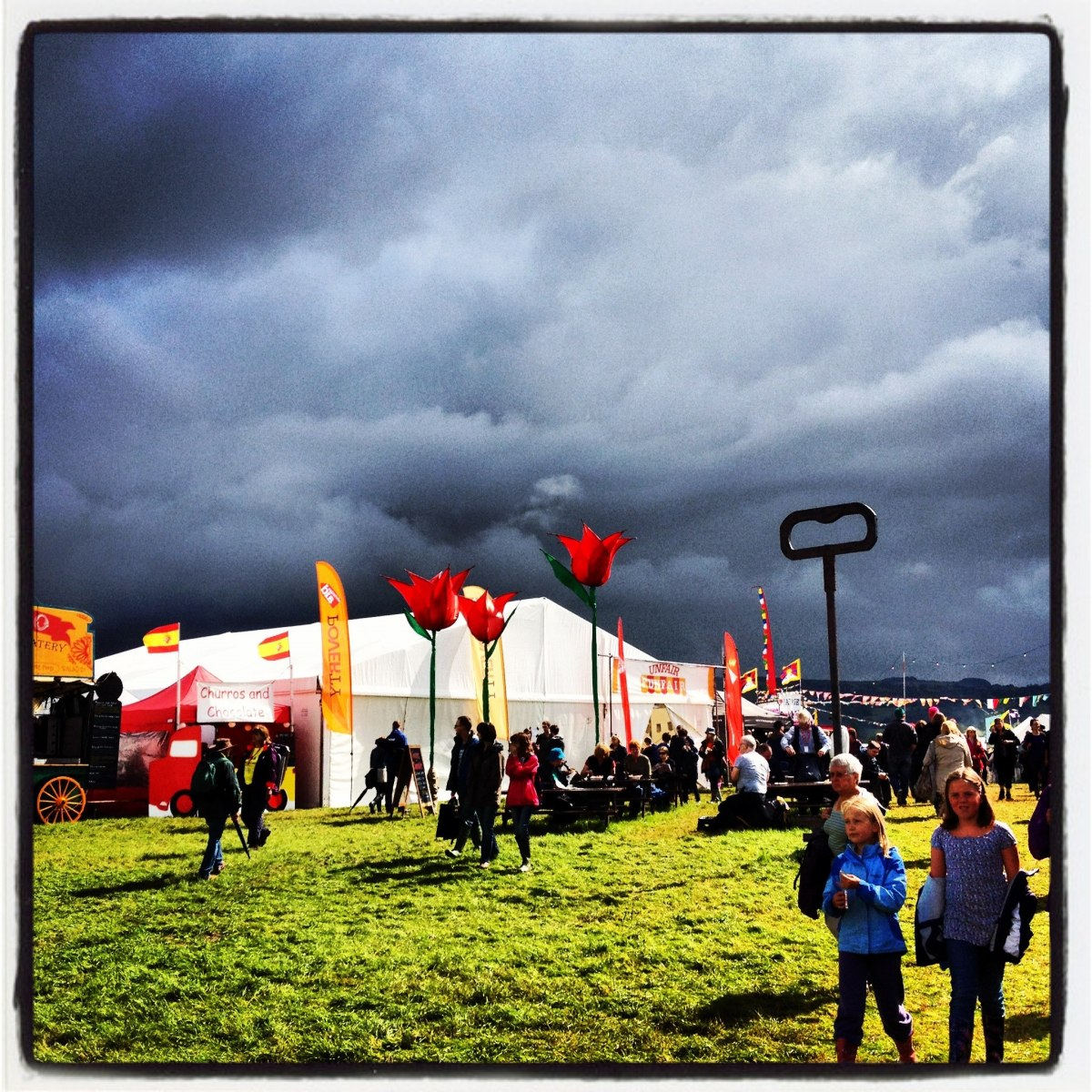 The sunshine before the storm on Saturday at Greenbelt 2012