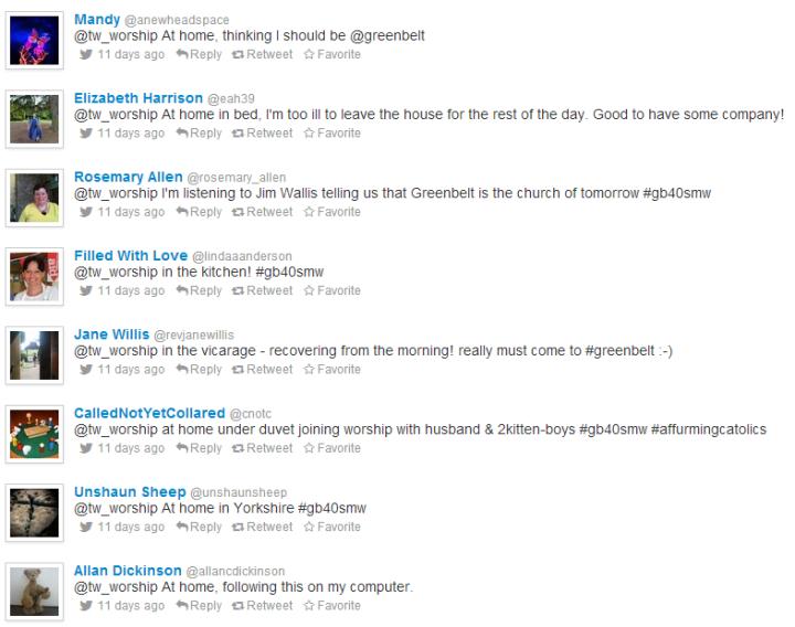 tweets from #gb40smw