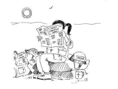 Cartoon by Chris Bambrough in More TV Vicar? Book
