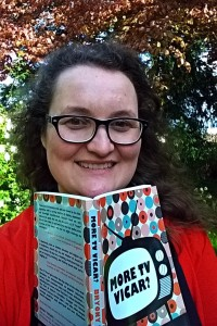 Bryony Taylor - author with her book More TV Vicar?