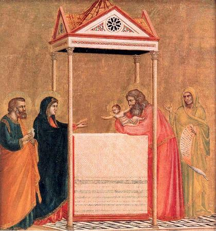 Presentation of Christ in the Temple Attributed to Giotto [Public domain], via Wikimedia Commons